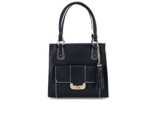 88a7e35384 ☆ Černá kabelka s ozdobnou třásní LYDC