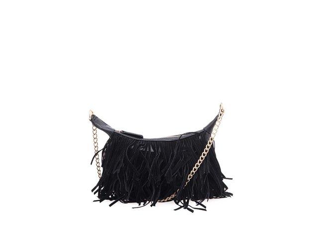 erná menší kabelka s třásněmi ONLY