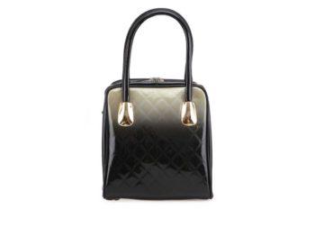 edo-černá lakovaná kabelka LYDC