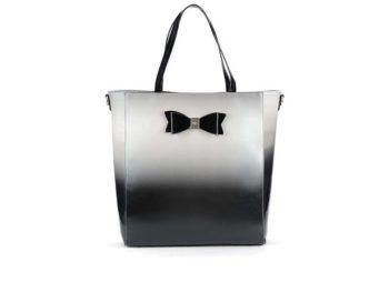edo-černá lesklá kabelka s mašlí LYDC