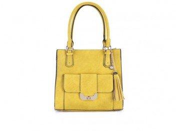 5f17ca78ea ☆ Žlutá kabelka s ozdobnou třásní LYDC