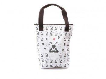"""Bílá """"papírová"""" taška přes rameno Dogo Panda In Love"""