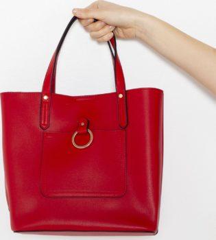 CAMAIEU červená velká kabelka