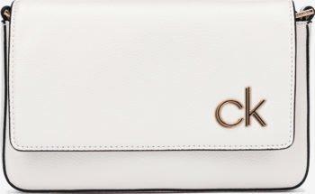 Calvin Klein bílá crossbody kabelka Ew Flap