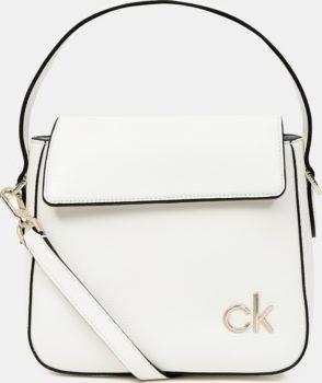 Calvin Klein bílá kabelka Hobo W/Flap