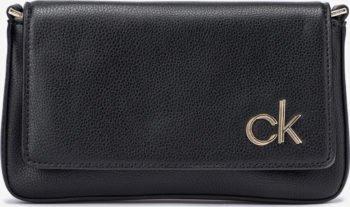 Calvin Klein černá crossbody kabelka Ew Flap