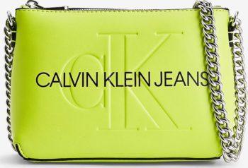 Calvin Klein neonově zelená crossbody kabelka