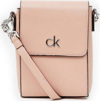 Calvin Klein růžová malá crossbody kabelka