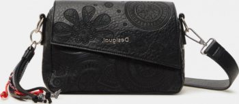 Černá dámská vzorovaná crossbody kabelka Desigual Deja Vu Phuket Mini