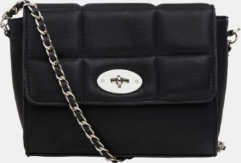 Černá kožená crossbody kabelka .OBJECT
