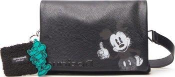 Desigual černá crossbody kabelka Mickey Dortmund Flap