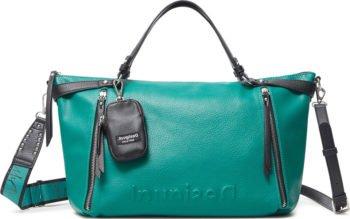 Desigual zelená kabelka Embossed Half Libia