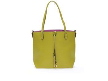 Fialovo-zelená oboustranná kabelka 2v1 Kris-Ana