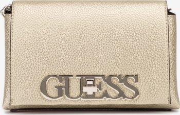 Guess zlatá crossbody kabelka Uptown Chic Mini