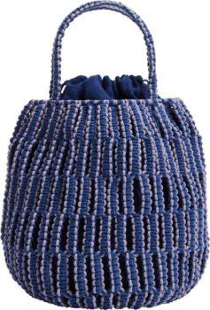 MANGO Kabelka modrá