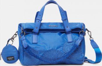 Modrá dámská vzorovaná kabelka Desigual Mandrala Loverty 2.0