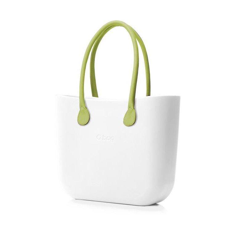 O Bag kabelka bílá s držadlem koženka limetka