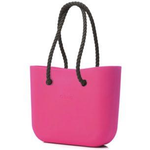 O Bag kabelka magenta s černým provazem