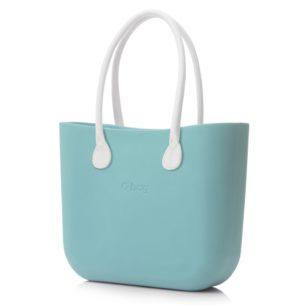 O Bag kabelka mentolová s držadlem koženka bílá