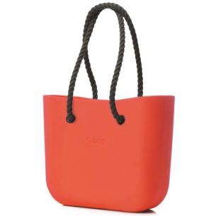 O Bag kabelka oranžová s černým provazem