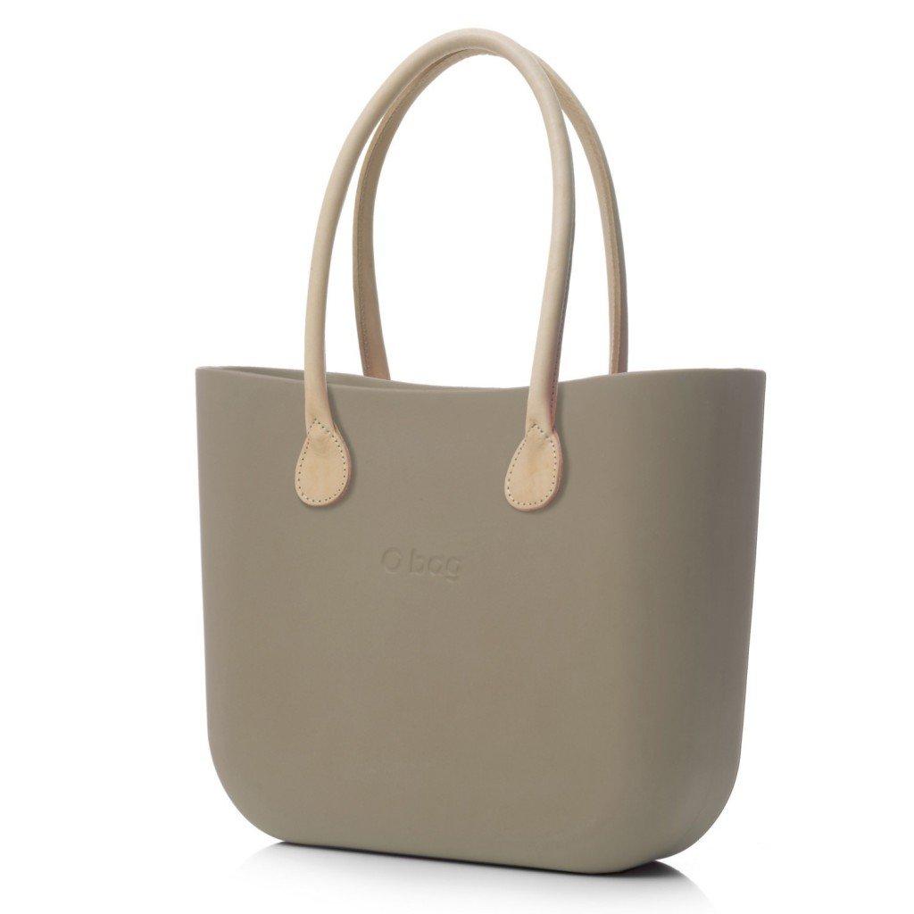 O Bag kabelka rock s držadlem kůže natural