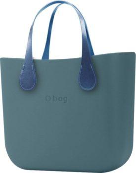 O bag kabelka MINI Atlantic s krátkými koženkovými držadly Extra Slim Avio