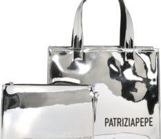 PATRIZIA PEPE Kabelka stříbrná