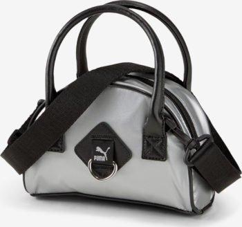 Puma stříbrná kabelka Prime Time Mini Grip