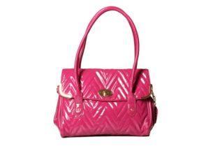 Růžová lakovaná kabelka Gionni