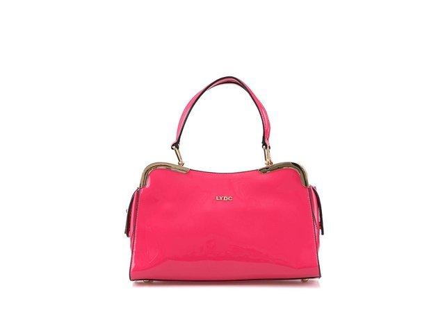 Růžová lakovaná kabelka LYDC