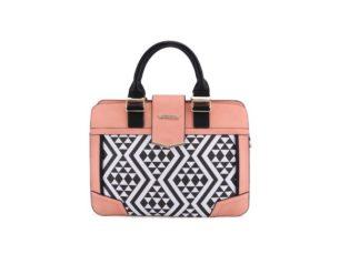 Růžovo-černá kabelka s mozaikovým vzorem Anna Smith