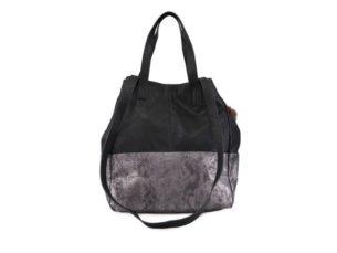 Stříbrno-černá kabelka Pieces Kezia