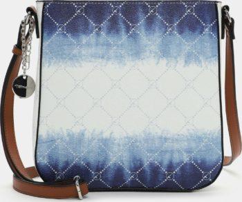 Tamaris modro-bílá crossbody kabelka