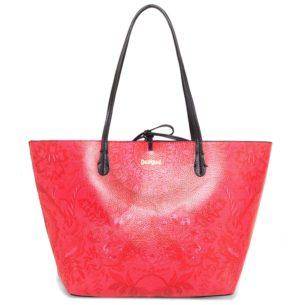 Desigual červená oboustranná kabelka Valkiria Capri