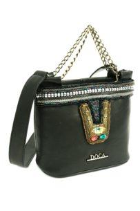 Doca černá kabelka s originálními motivy