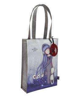 Santoro fialová nakupovací taška Dear Alice