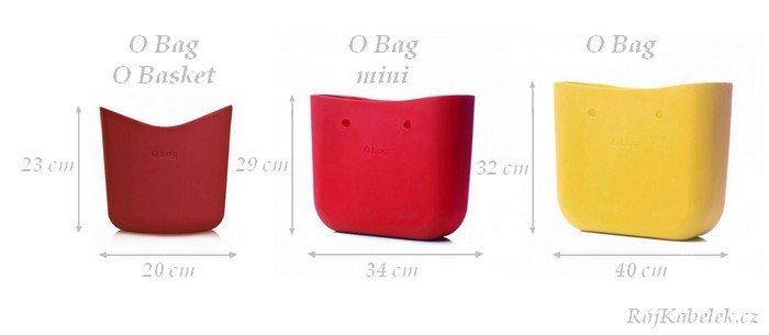 Srovnání velikostí kabelek O Bag
